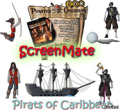 пираты Карибского моря, скринмейт